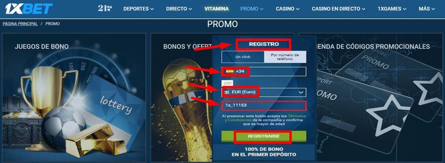 1xBet promos – códigos promocionales disponibles para usuarios en España